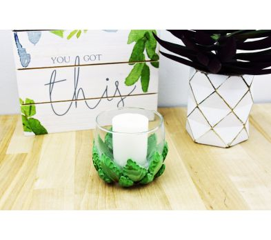 Sculpey III® Agave Style Candle Holder