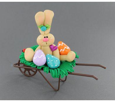 Sculpey III Bunny in a Wheelbarrow