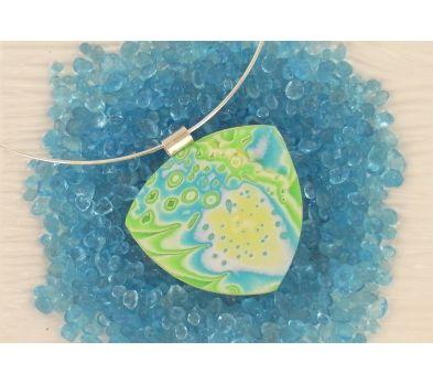 premo! Glitter Clay Mokume Gane Pendant