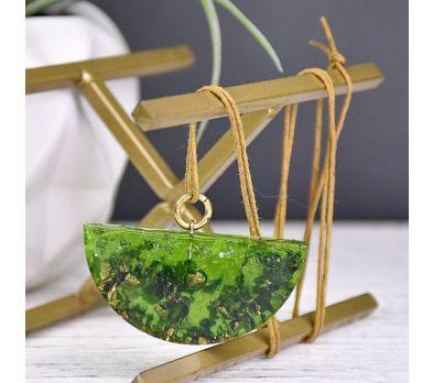 Liquid Sculpey® Green & Gold Leaf Pendant