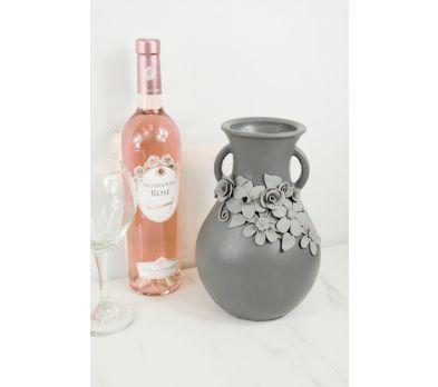 Original Sculpey® Gray Floral Vase