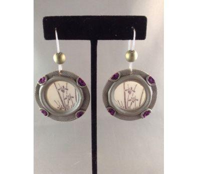 Liquid Clay Springtime Window Earrings