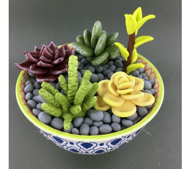 Premo Faux Succulents in a Bowl
