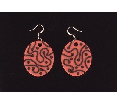 Sculpey Premo™ Black Lace Earrings