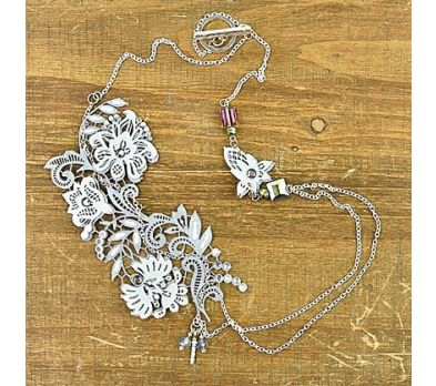 Liquid Sculpey® Lovely Lace Liquid Necklace