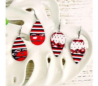 Sculpey Souffle® Mokume Gane Modern Art Earrings