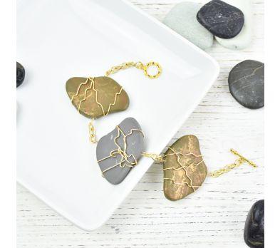 Sculpey III® Wire Wrapped Faux Stone Bracelet