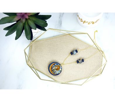 Sculpey Premo™ Glittering & Gold Necklace
