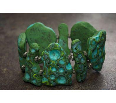 Sculpey® III Faux Moon Rock Bracelet