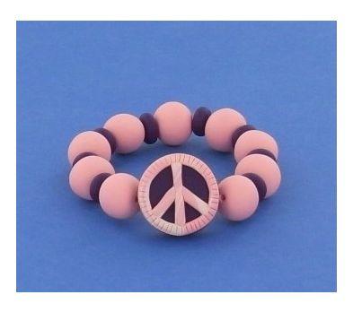 Sculpey® III Peace Sign Bracelet