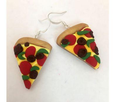 Sculpey III Pizza Earrings
