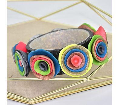 Sculpey Premo™ Glittering Organic-Look Flower Bracelet