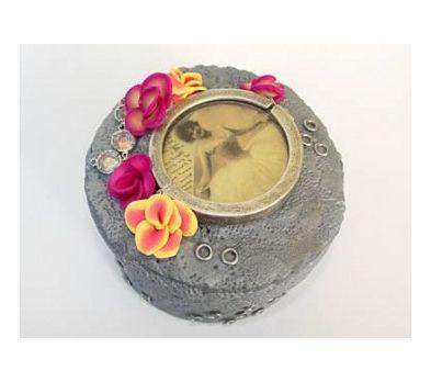 Sculpey® III Silver Floral Steampunk Jewelry Box