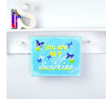 """Liquid Sculpey® """"You Are My Sunshine"""" Wall Canvas"""