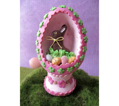Sculpey Premo™ Chocolate Bunny Egg Diorama