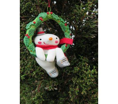 Premo Snowman Wreath Ornament
