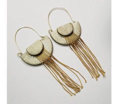 Sculpey Premo™ Art Deco Earrings with Fringed Tassels