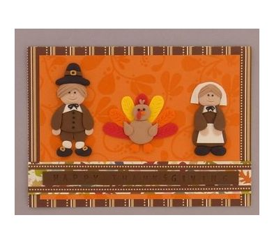 Sculpey III Thanksgiving Card