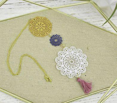 Liquid Sculpey® Three Mandalas Necklace