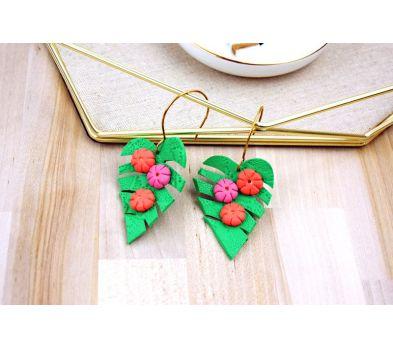 Souffle Tropical Leaf Earrings