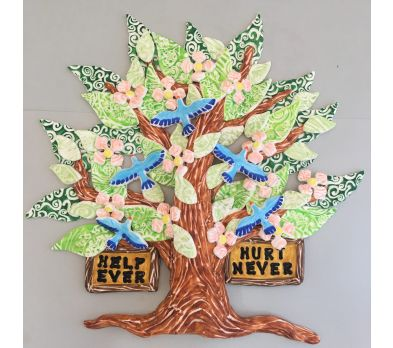Sculpey® Ultralight and Marvy Markers Tree of Life