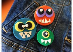 Bake Shop Monster Flair Pins