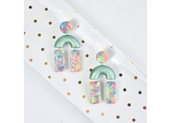 Sculpey Premo™ Iridescent Crumble Earrings