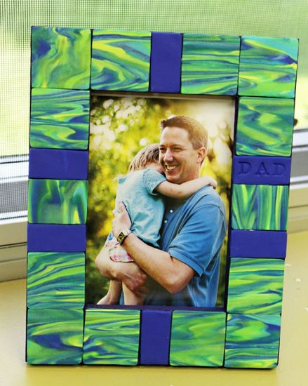 Sculpey® III Marbled Tile Father's Day Frame (ages 7+ with help)