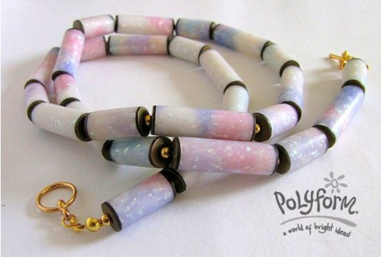 premo! Accents Opal Clay Tube Necklace