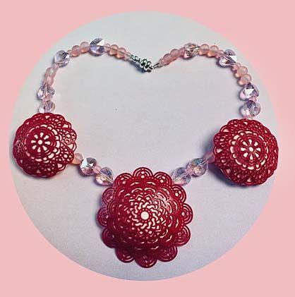 Liquid Sculpey® Crystal & Lace Princess Necklace