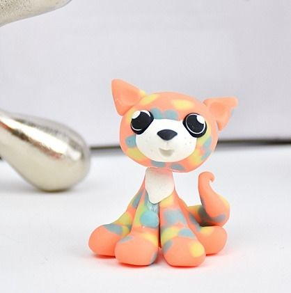 Sculpey Bake Shop® Glow in the Dark Polka Dot Kitty