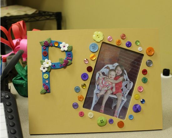 Sculpey® Bake Shop Initial Picture Frame