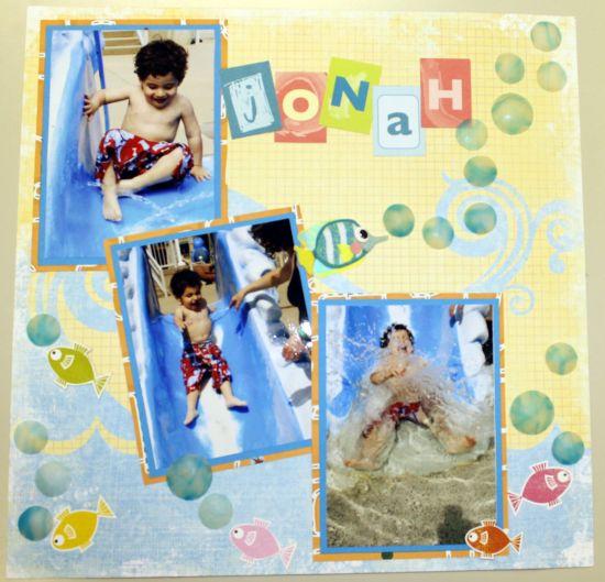 premo! Bubbles Scrapbook Page