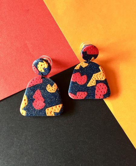 Sculpey Premo™ Galaxy Glitter Print Earrings