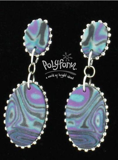 premo! Marbled Mirror Earrings