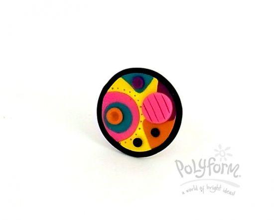Sculpey Soufflé Color Splash Ring