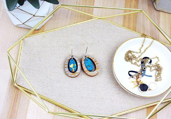 Liquid Sculpey® Hoop Faux Stone Earrings