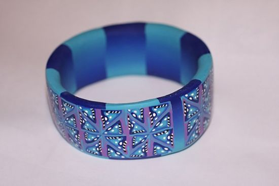 Sculpey Premo Abstract Caned Bracelet