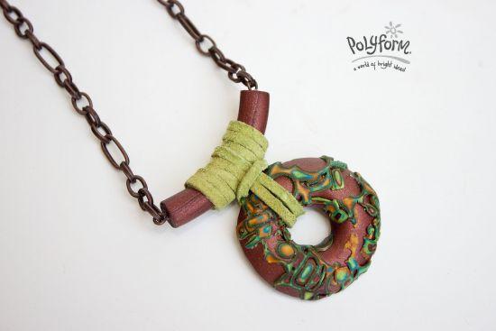 premo! Mokume Gane Bohemian Pendant