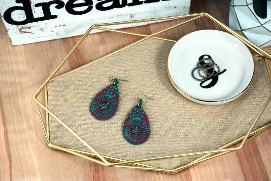 Souffle Textured Multimedia Earrings