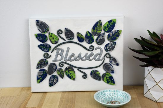 """Premo Sculpey® """"Blessed"""" Canvas Wall Hanging"""
