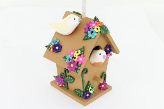 Sculpey® III Decorated Birdhouse Ornament