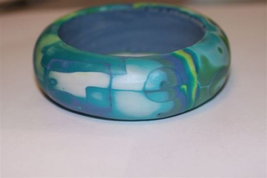 Premo! Mokume Gane Bangle Bracelet