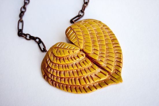 Sculpey Soufflé Winged Heart Pendant