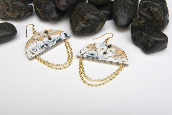 Sculpey Premo™  Mokume Gane Umbrella Earrings
