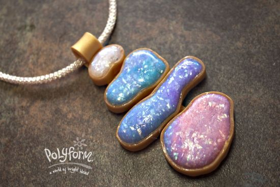 Premo! Accents Watercolor Opal Pendant