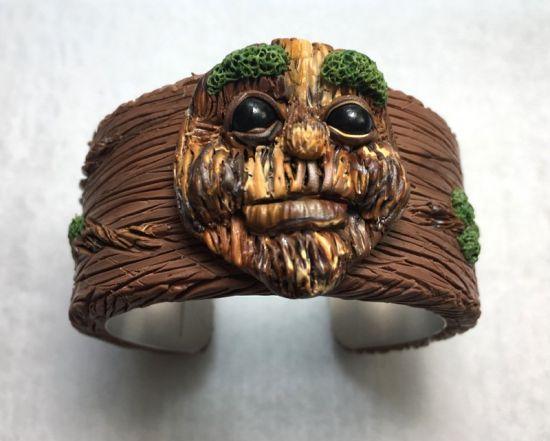 Sculpey Rustic Wooden Cuff
