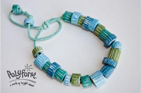 Sculpey Soufflé Beach Bracelet