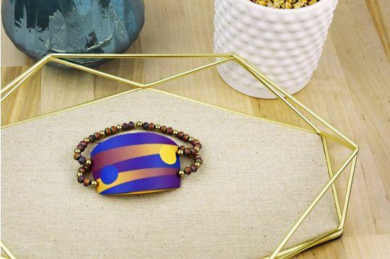 Sculpey Soufflé™ Skinner Blended Half Cuff Bracelet