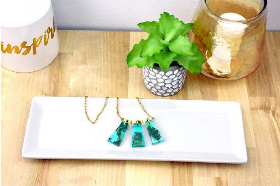 Liquid Sculpey Aqua Gold Liquid Necklace